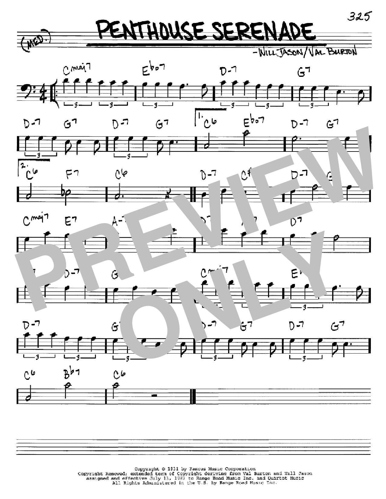 Penthouse Serenade Sheet Music