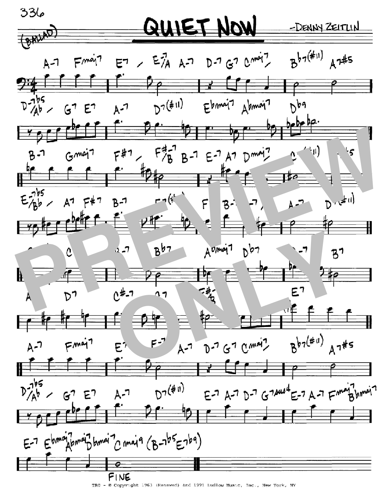 Quiet Now Sheet Music