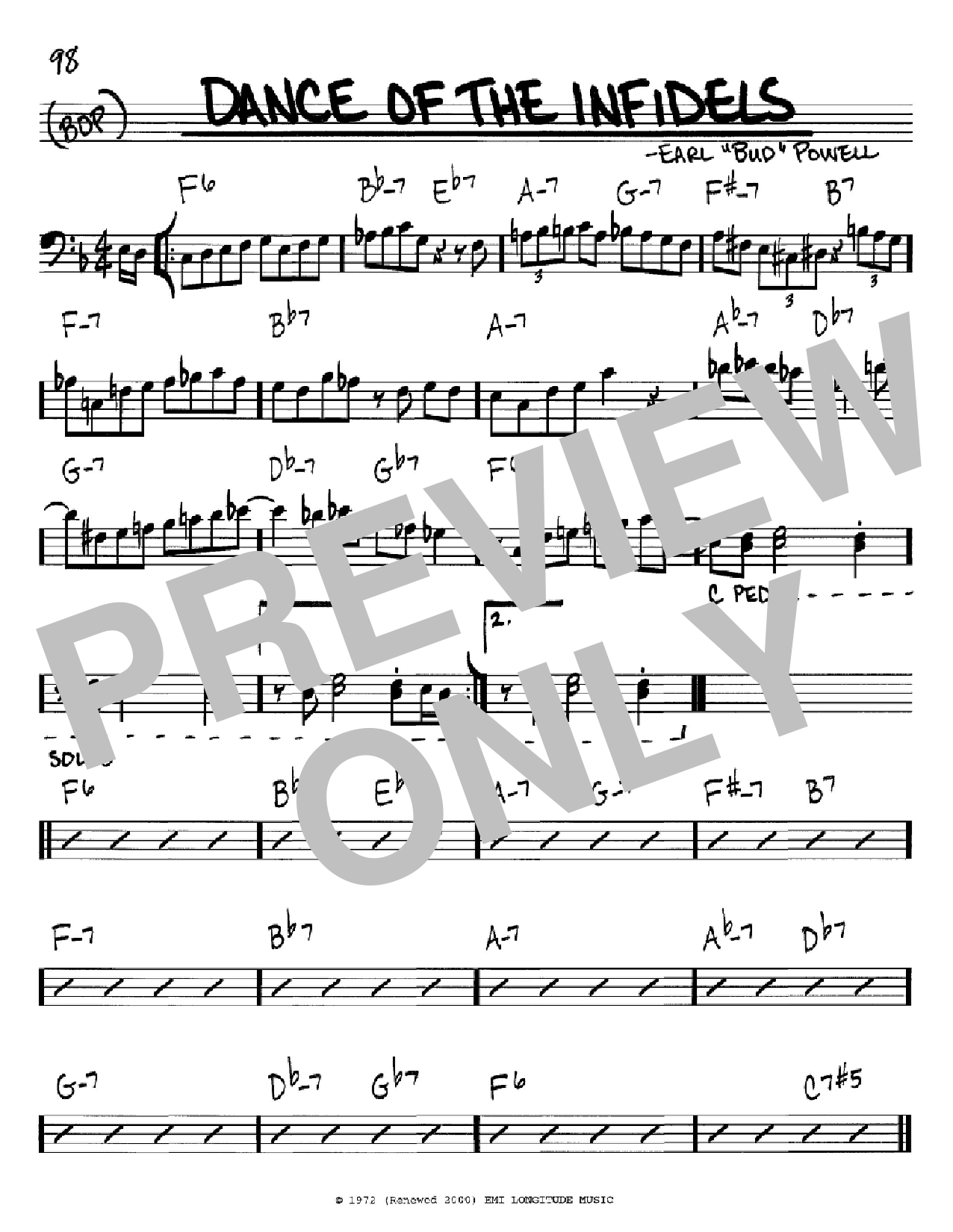 Dance Of The Infidels (Real Book – Melody & Chords – Bass Clef Instruments)
