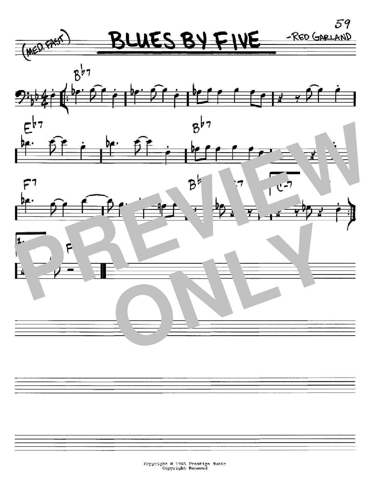 Blues By Five Sheet Music