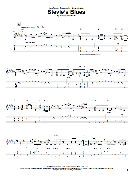 Stevie's Blues Sheet Music
