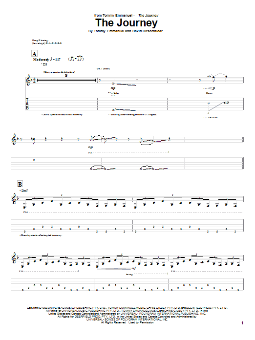 The Journey (Guitar Tab)