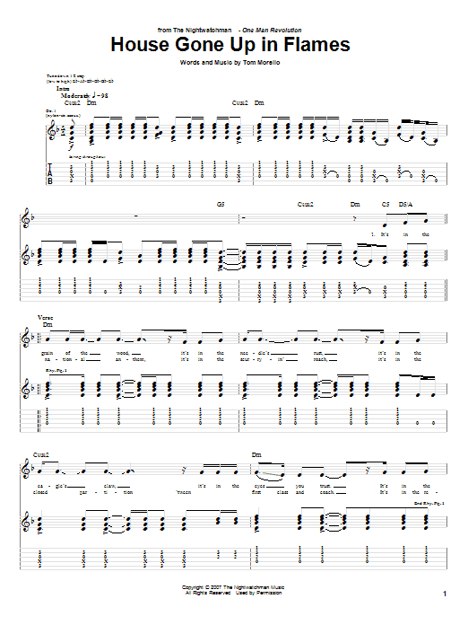 House Gone Up In Flames (Guitar Tab)