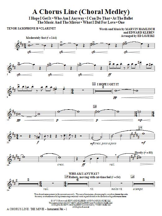 A Chorus Line - Reed 1 Sheet Music