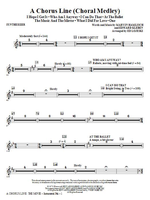 A Chorus Line - Synthesizer Sheet Music