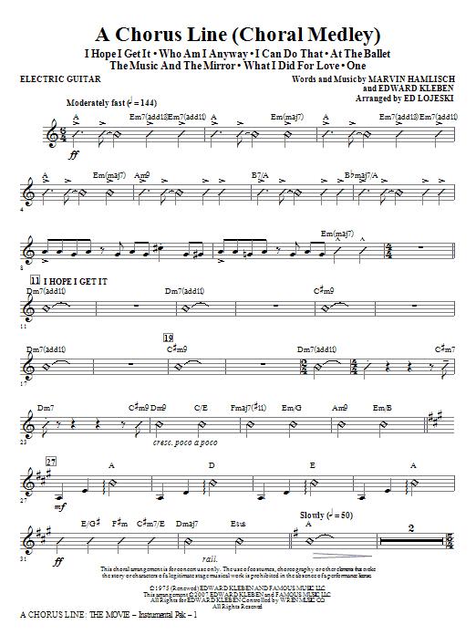 A Chorus Line - Guitar Sheet Music