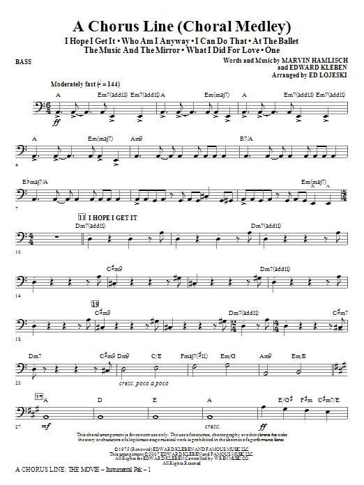 A Chorus Line - Bass Sheet Music
