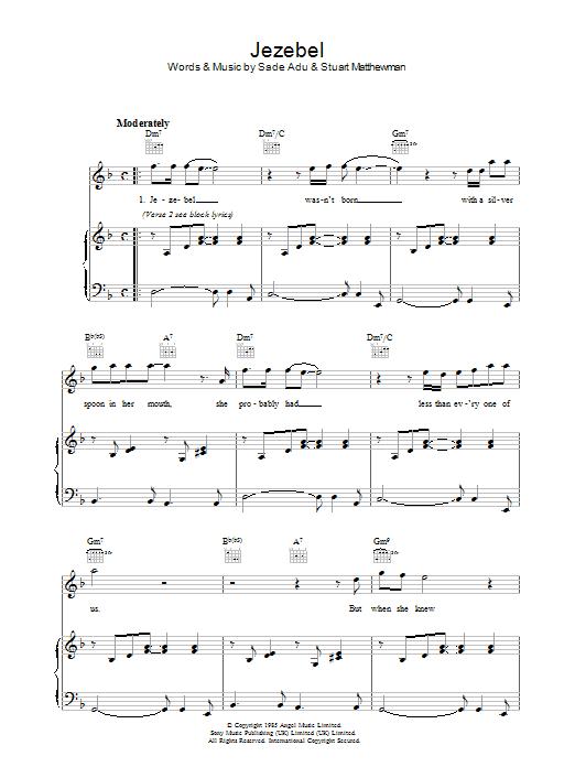 Jezebel (Piano, Vocal & Guitar)
