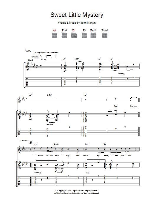 Sweet Little Mystery (Guitar Tab)