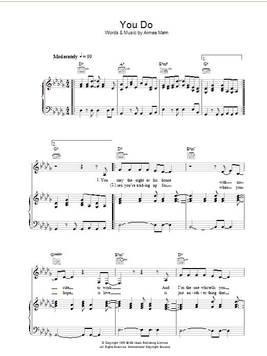 You Do (Piano, Vocal & Guitar)
