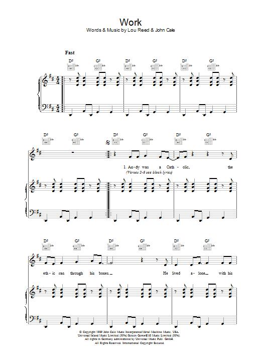 Work (Piano, Vocal & Guitar)