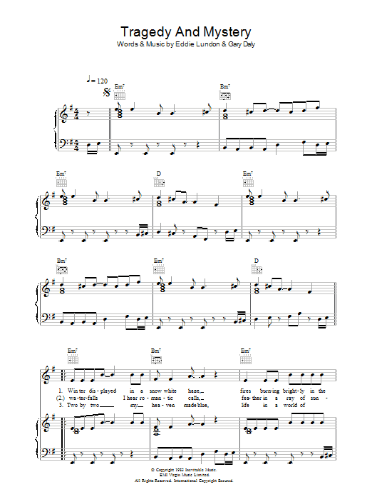 Tragedy And Mystery Sheet Music
