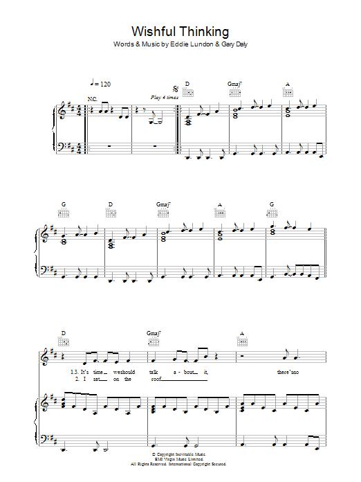 Wishful Thinking (Piano, Vocal & Guitar)