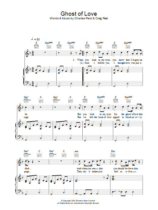 Ghost Of Love (Piano, Vocal & Guitar)