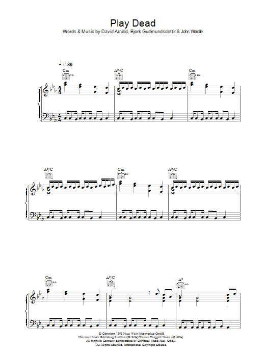 Play Dead Sheet Music