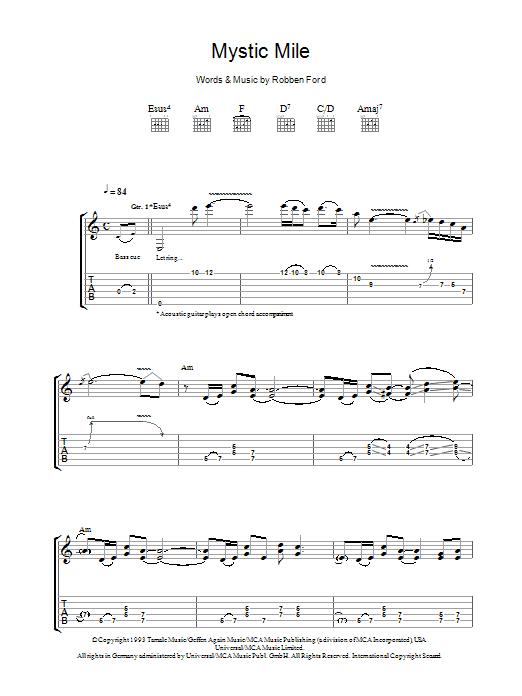 Mystic Mile Sheet Music