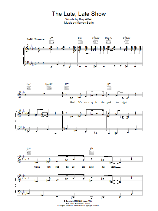 The Late Late Show Sheet Music