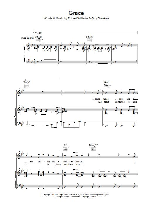 Grace (Piano, Vocal & Guitar)