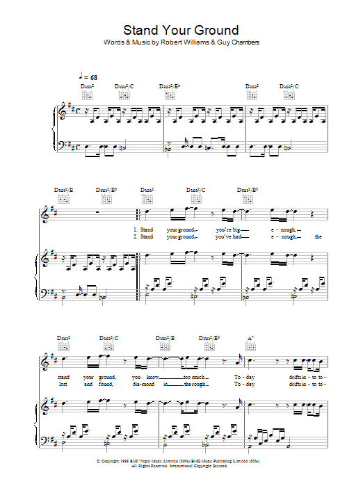 Stand Your Ground Sheet Music
