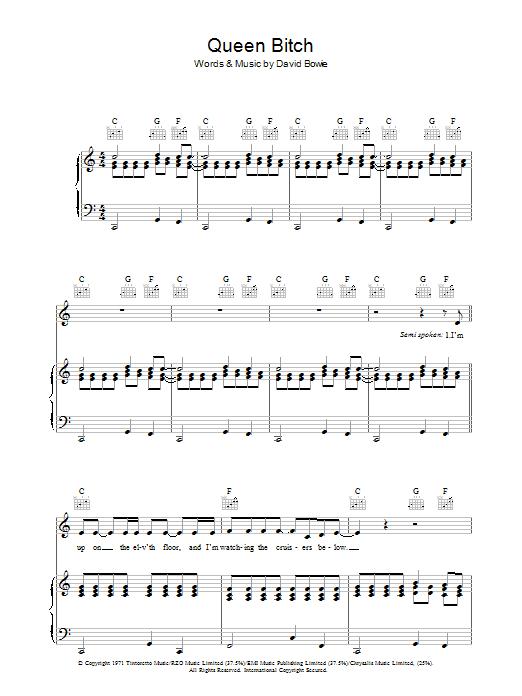 Queen Bitch Sheet Music