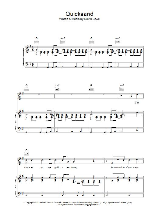 Quicksand (Piano, Vocal & Guitar)
