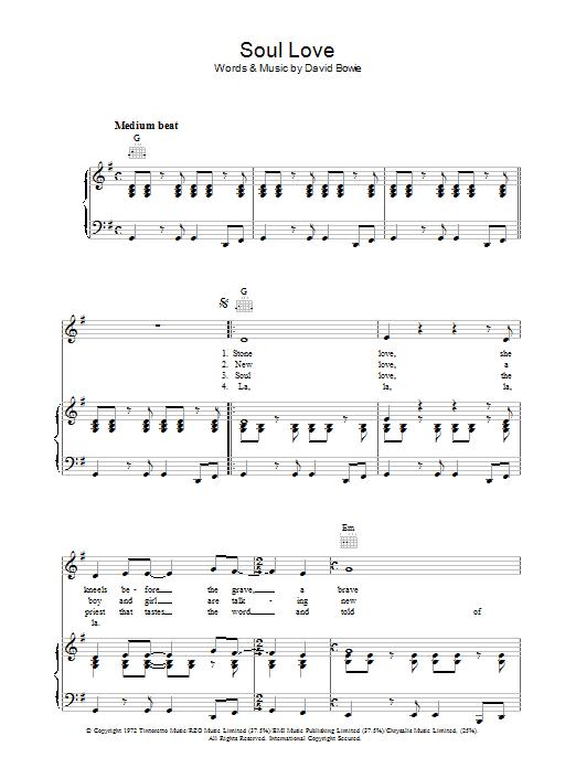 Soul Love (Piano, Vocal & Guitar)