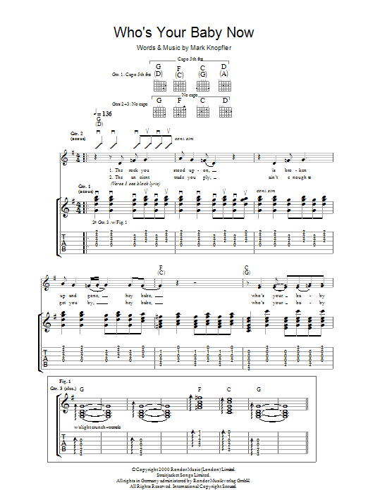 Who's Your Baby Now (Guitar Tab)