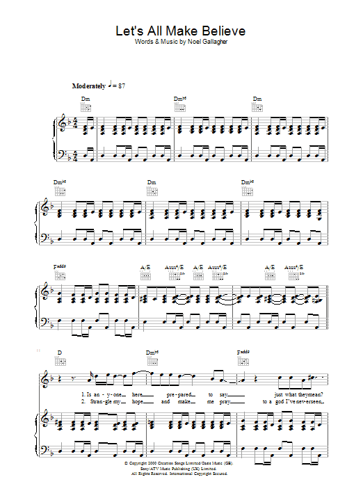 Let's All Make Believe Sheet Music