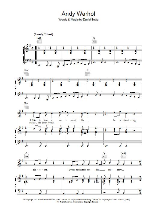 Andy Warhol (Piano, Vocal & Guitar)