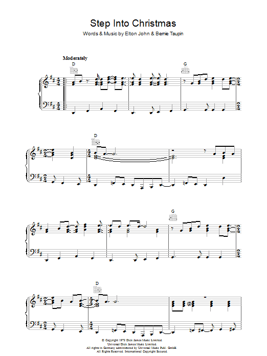 Step Into Christmas (Piano Solo)