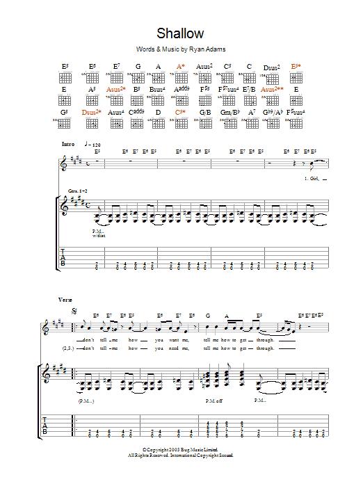 Shallow (Guitar Tab)