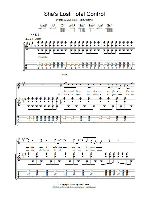 She's Lost Total Control (Guitar Tab)