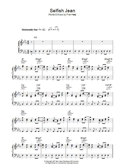 Selfish Jean (Piano, Vocal & Guitar)