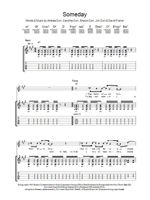 Someday (Guitar Tab)
