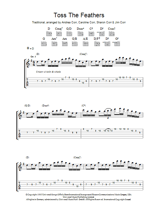 Toss The Feathers (Guitar Tab)