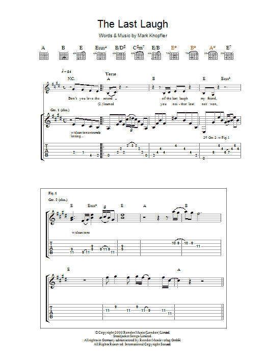The Last Laugh (Guitar Tab)