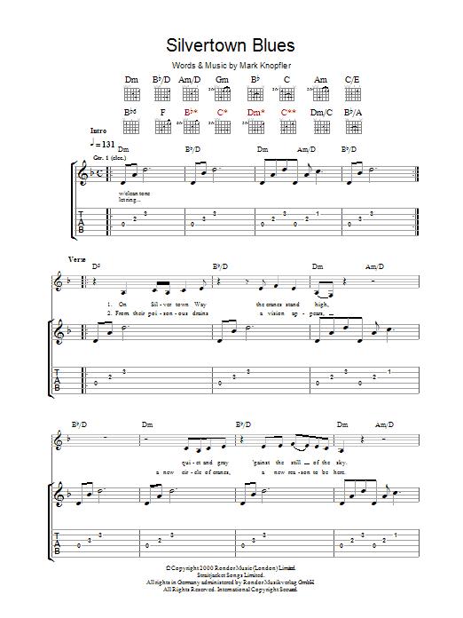 Silvertown Blues (Guitar Tab)