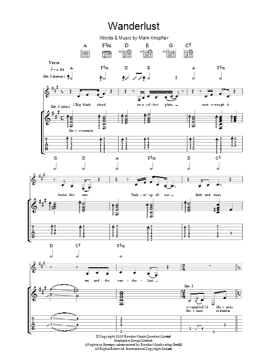 The Wanderlust (Guitar Tab)