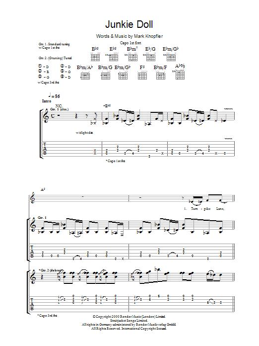 Junkie Doll (Guitar Tab)