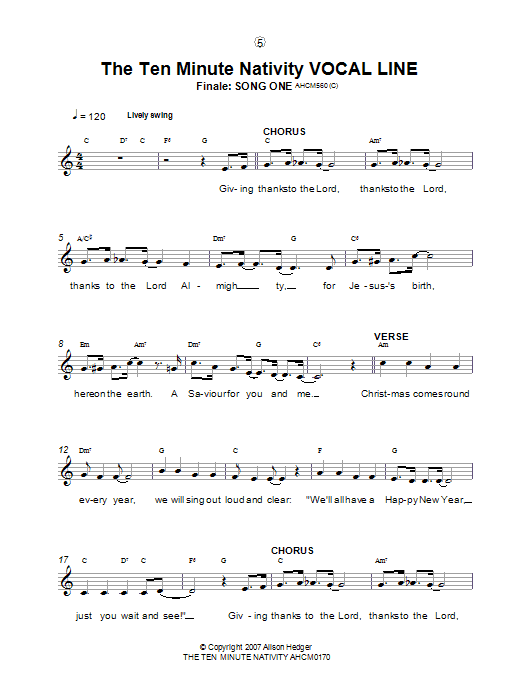 Finale (from The Ten Minute Nativity) Sheet Music