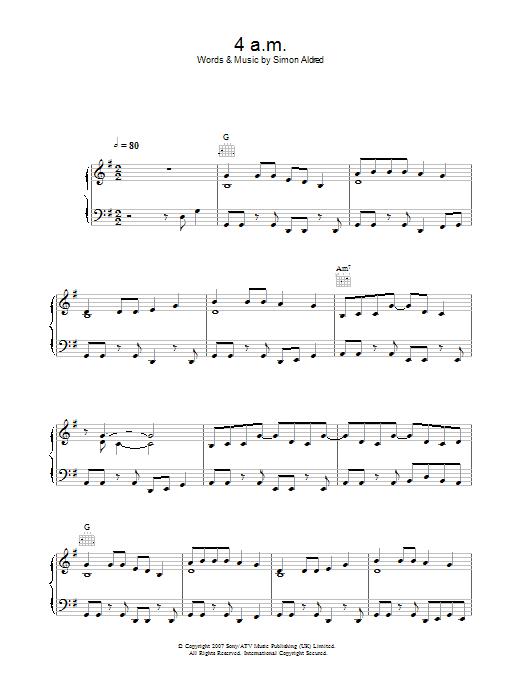 4am (Piano, Vocal & Guitar)