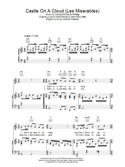 Castle On A Cloud (Piano, Vocal & Guitar)