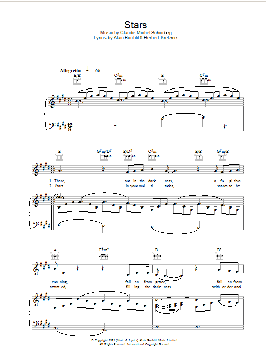 Stars (Piano, Vocal & Guitar)