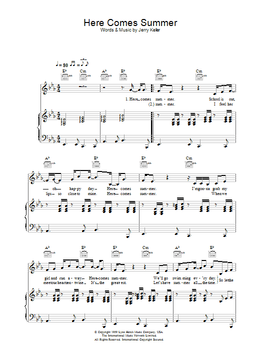 Here Comes Summer Sheet Music