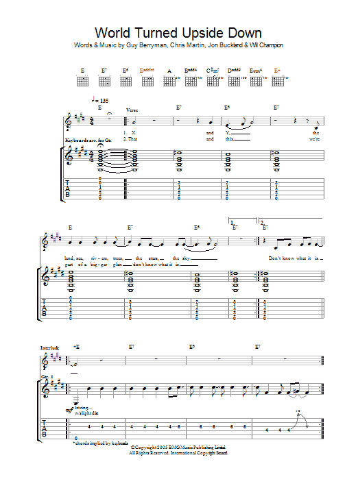The World Turned Upside Down (Guitar Tab)