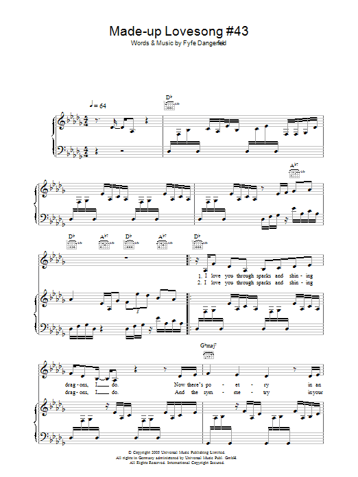 Made Up Love Song #43 (Piano, Vocal & Guitar)