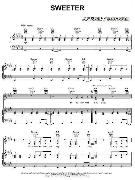 Sweeter (Piano, Vocal & Guitar (Right-Hand Melody))