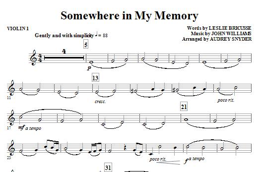 Somewhere in My Memory - Violin 1 Sheet Music