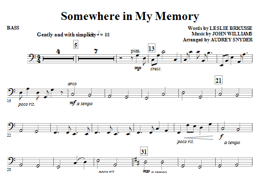 Somewhere in My Memory - Bass Sheet Music