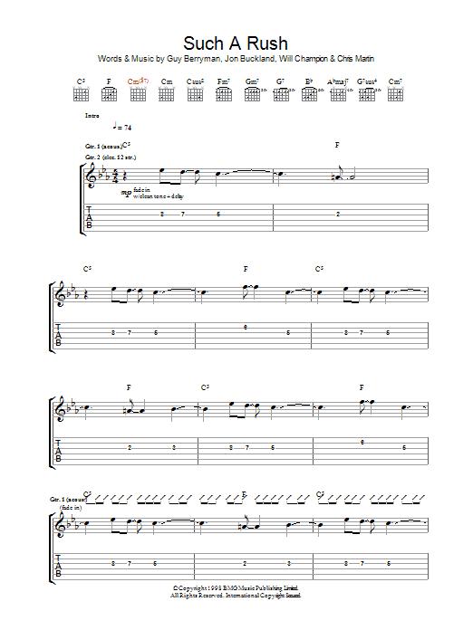 Such A Rush (Guitar Tab)